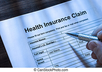Completing A Health Insurance Claim