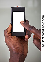 Person Holding Cellphone