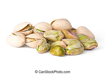 Close-up of a pistachio. File content a clipping path
