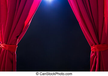 Close-up Of A Red Curtain