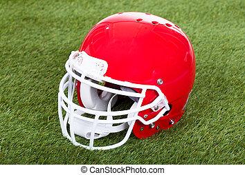 Football Helmet On Field