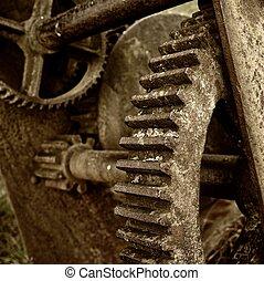 Close-up of a rusty mechanism