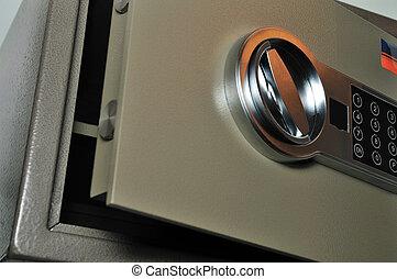 close up of a safe
