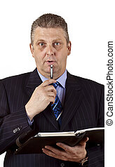 Close-up of a senior businessman
