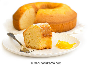 slice of cake - close up of a slice of cake