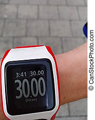 close up of a  sports smartwatch