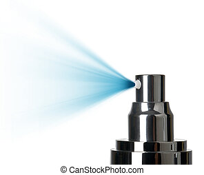 close up of a spray nozzle close-up on white background