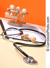 close up of a stethoscope