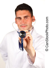 Close-up of a stethoscope
