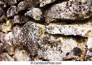 Close up of a stone wall