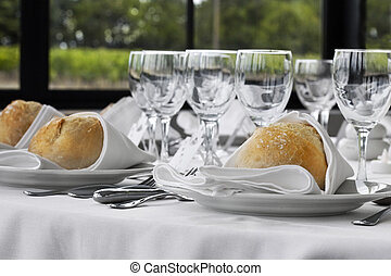 Close up of a table set