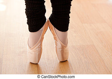 Close-up of a talented ballerina