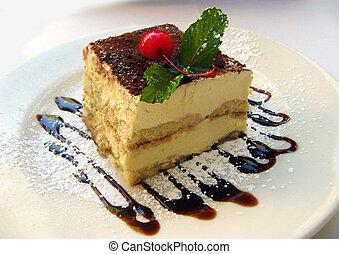 tiramisu dessert on plate