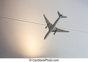 Close-up of a toy airplane