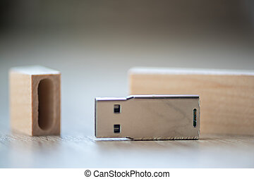 Close-up of a USB stick