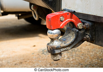 Close up of a useful 4x4 REAR TOW BAR with safety lock