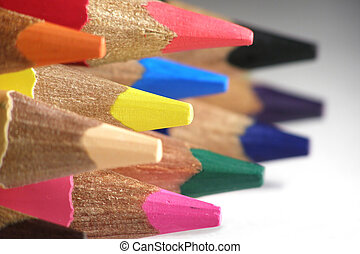 color pencils - Close-up of a variety of color pencils