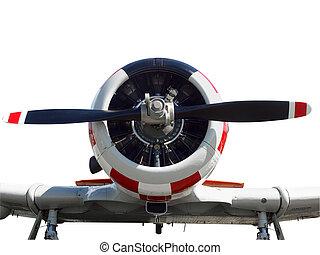 Close up of a vintage  aircraft