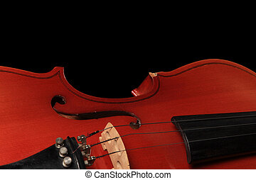 Close-up of a violon
