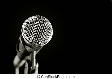 vocal microphone - close-up of a vocal microphone isolated...