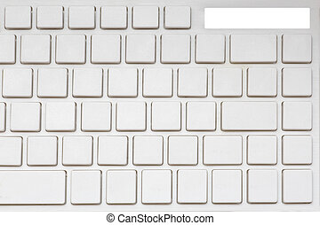 close up of a white computer keyboard