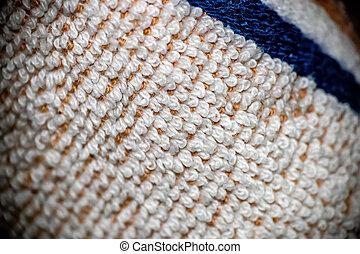 Close up of a white kitchen rag