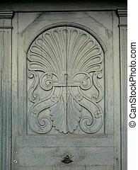 Close-Up Of A Wooden Door