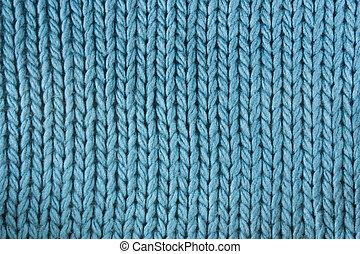 Close-up of a woolen pattern. Knitting pattern