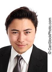 Close up of a young businessman