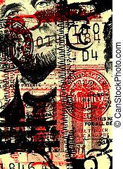 Close up of abstract US dollar