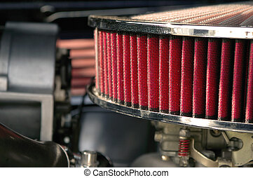 air intake filter - close-up of air intake filter from a ...