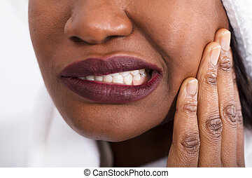 Woman Having Tooth Pain