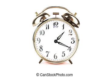 Close up of an alarm clock