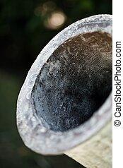 close-up of an antique ca