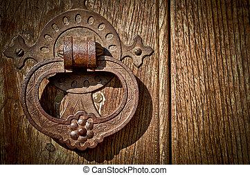 Close-up of an Antique Door Knob.