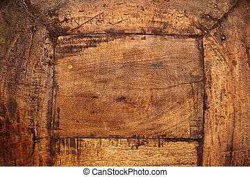 close up of an antique wood board