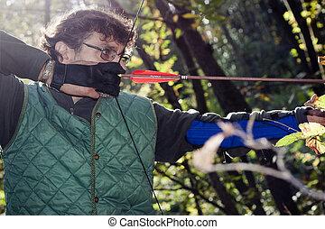 close up of an archer