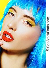 bright make-up
