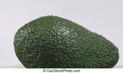 Close-up of an avocado rotating