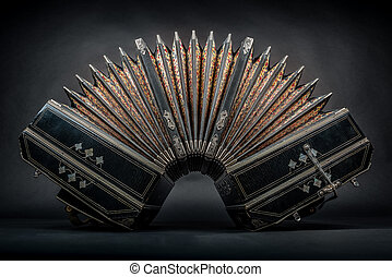 bandoneon - close up of an bandoneon