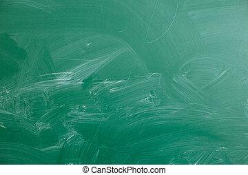 Close up of an empty school chalkboard