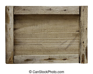 close up of an empty wooden on white background