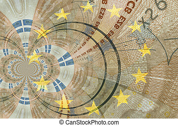 close up of an euro banknote