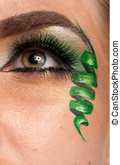 Close up of an eye with artistic make up
