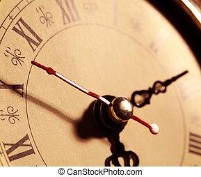 Old clock face - Close up of an Old clock face