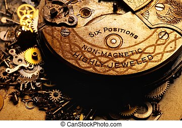 Close-up of an old gears