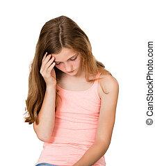 Close-up Of An Unhappy Girl