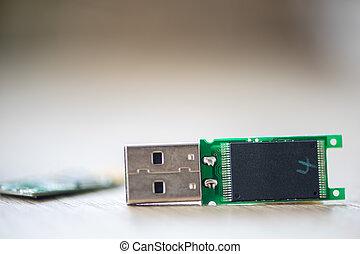 Close-up of an USB stick