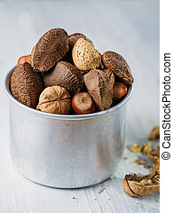 assorted mixed nuts snack
