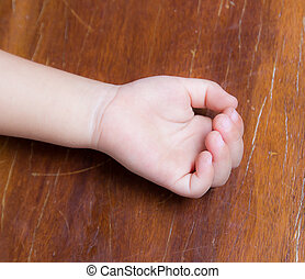 Close up of baby hand the sleeping